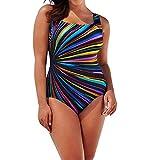 Sportlichen Einteiler Badeanzug für Damen Modedruck Rückenfrei Badeanzüge Bodyforming Bauch Weg...