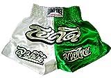 Lumpinee Muay Thai Boxhose, Weiß und Grün, Größe XXL