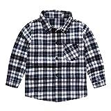 Anglewolf Baby Jungen Hemd Langarm festlich Baumwollmischung Kariertes Jungen Mädchen Hemden Plaid...