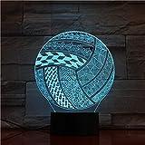 jiushixw 3D acryl nachtlicht mit Fernbedienung Farbwechsel Schreibtisch licht Bild Spielen...
