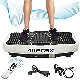 Merax Vibrationsplatte mit Leisem Motor,LCD Display,5 Trainingsprogramme 180 Stufen,Bluetooth...