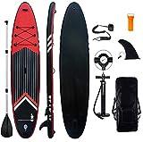 Aufblasbares Stand Up Paddel Board - 10'6'' SUP Board Set   320x81x15cm   6 Zoll Dick   Surfboard Wassersport   inkl. Tasche/Paddel/Finne/Luftpumpe/Repair Kit/Anfänger und erfahrene Leute Entwickelt