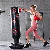 ODOMY Boxsack Standboxsack Aufblasbar Stehend für Fitness Krafttraining für Erwachsene Kinder...