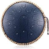 CCFCF Alloy Steel Tongue Drum 14 Zoll, 14 Notizen Tongue Drum Black Handpan Drum mit gepolsterter...