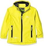 Trespass Qikpac Jacket, Yellow, 2/3, Kompakt Zusammenrollbare Wasserdichte Jacke für Kinder /...
