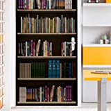 lihaohao 3D-Türkunst, selbstklebendes Türwandbild, Türpfosten-Vintage-Bücherregal Sechs-90 cm *...