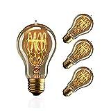 ZOOVQI LED E27 Glühbirne Edison Vintage Glühlampe 60W A19 Dekorative Leuchtmittel Birne für Haus...