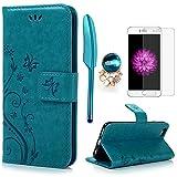 iPhone 6 / 6S Hülle (4,7 Zoll) Wallet Case Flip Hülle YOKIRIN Schmetterling Blumen Muster...
