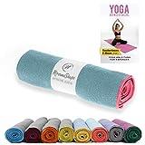 NirvanaShape ® Yoga Handtuch rutschfest | Hot Yoga Towel mit Antirutsch-Noppen | hygienische...