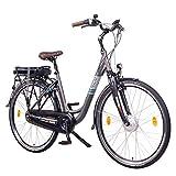 NCM Munich N8C 28' E-Bike City Rad, 250W, 36V 13Ah 468Wh Akku, mit Rücktrittbremse (N8C Anthrazit)