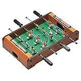 elasto Tischkicker Mini Soccer Mini Kicker Tischfußball mit 12 Spieler inkl. 2 Bällen 50 x 31 x...
