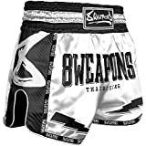 8 Weapons Muay Thai Shorts, Carbon, Snow Night, weiß (XL)