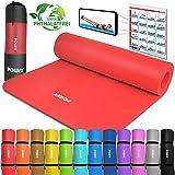 POWRX Gymnastikmatte Yogamatte Premium inkl. Tragegurt & Tasche sowie Übungsposter I Sportmatte...