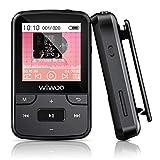 Wiwoo Bluetooth MP3 Player, 16GB Sport MP3 Musik Player mit Clip Radio Sprachaufnahme Silikonhülle...