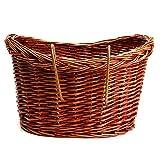 Noblik Willow Rattan ohne Abdeckung Fahrradkorb Fahrradkorb Verstellbarer Riemen Fahrrad/Einkaufen