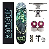 Skateboard Messenger Skateboard Komplett PRO Skateboard Doppel Kick-Deck Concave Skateboards mit...