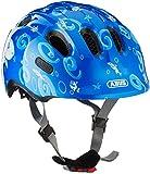ABUS Smiley 2.0 Kinderhelm - Robuster Fahrradhelm für Mädchen und Jungs - 72574 - Blau mit Hai-Muster, Größe S