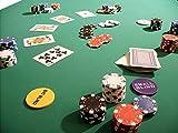 Biotin Pokertuch Casino Spieltuch Poker Stoff Pokertisch Auflage Tischtuch Tischdecke (grün,...