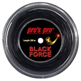 Pro Pros Black Force Tennissaite für Spin 200m, Schwarz, 1.24mm