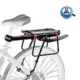 Aoweika Mountainbike Gepäckträger, Fahrrad Gepäckträger mit Kotflügel, 75 kg Kapazität...