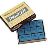 Box of 12 Blue Pioneer Tournament Quality Pool and Snooker Table Chalks,