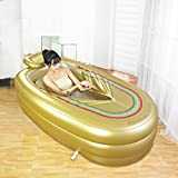 Lily's-uk Love Bathtub Aufblasbare Badewanne Plastik Badewanne Thicken Plastic Badewanne (Gold)