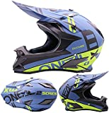 Unbekannt Sport Motocross Kinder Helm Erwachsene Off-Road Helm Mountainbike Downhill Helm Crash...