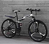 Aoyo Full Suspension Anti-Rutsch-Mountainbike Falträder, 26inch 27-Gang-Doppelscheibenbremse,...