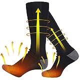 Beheizte Socken, 4500mAh Beheizbare Socken Skisocken Elektrischer Fußwärmer Heizsocken Warme socken für Outdoor Camping Angeln Radfahren Skifahren Herren Damen Unisex 3 Einstellbarer Temperatur