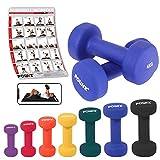 Neopren Hanteln Gewichte für Gymnastik Kurzhanteln 0,5 kg - 5 kg oder Set komplett (2 x 4 kg)
