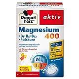 Doppelherz Magnesium 400 Brausetabletten + B1 + B6 + B12 + Folsäure – Magnesium als Beitrag für die normale Muskelfunktion – 90 Brausetabletten
