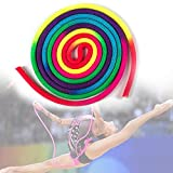LZDseller01 Yoga Trainingsseil, Gymnastik Kunst Requisiten Regenbogen Solid Rhythmic Gymnastics...