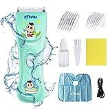 Baby Haarschneidemaschine Set Leise Elektrische Haarschneidemaschine Kit für Kinder, Wasserdicht & USB Wiederaufladbar Schnurlos Kinder Haarschnitt Kit für Jungen Kleinkind
