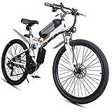 RXRENXIA Elektro-Bike 26 Zoll Folding Fat Tire Bike Schnee 12Ah Li-Batterie 21 Geschwindigkeit Beach...