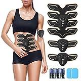 OUTERDO EMS Elektrische Muskelstimulation,USB Wiederaufladbar EMS Bauchmuskeltrainer für...