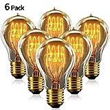Edison Vintage Glühbirne A19 40W, KIPIDA E27 Retro Tungsten Filament Glühbirne 220V Dimmbare...