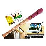 VoggenreiterBlockflöte aus Holz & Kunststoff für Kinder ab 6 Jahre inkl.Flute Master(Lernsoftware App)-barockeGriffweise & roter Flötenkopf