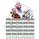 MamboCat 25er Set Sturzglas 125 ml Marmeladenglas Einmachglas Einweckglas to 66 silberner Deckel...