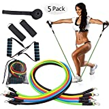 XTDGN 5 Set -11pcs Gewicht Übung Fitness-Widerstand-Bänder Set - stapelbare Elastic Band...