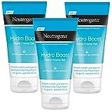 Neutrogena Hydro Boost Hand Creme Gel - Erfrischendes und ultra-leichte Handcreme mit Hyaluron - 3 x...