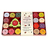 Duftkerzen-Adventskalender mit Keramikleuchter