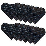 Teppichgreifer Antirutschmatte 12PC Anti-Curling Rug Gripper, Waschbar Teppich Antirutschunterlage Doppelseitig Teppichstopper Antirutschpads, Starke Klebrigkeit & Wiederverwendbar Teppich Aufkleber