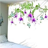 haoziggdeshoop Wandteppich Wandbehänge Schmetterlingsblume Tapisserie Wandtuch Hausdeko Strandtuch...