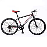 ndegdgswg Mountainbike, 26 Zoll 7 Gang Leichtes Dual Shock Aluminiumlegierung Cross Country Variable Speed Bike 26inches7speed [PromotionalEdition]-BlackRed