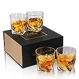 KANARS Whiskey Gläser Set, Bleifrei Kristallgläser, Whisky Glas, Schöne Geschenk Box, 4-teiliges,...