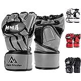 Brace Master MMA Handschuhe UFC Handschuhe Leather Padding für Männer, Frauen,...