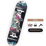SHPT Pro Skateboard 42 Zoll Dancing Longboards Skateboards Zum Tanzen Cruisen Carven Freestyle Für...