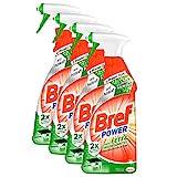 Bref Power gegen Fett & Eingebranntes, Fettlöser, Sprühflasche, für Küche, Kamin und Ofen, (4 x...