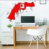 YuanMinglu Vinyl Wand Applique Gun Firearm Gun Kunst Design wandmalerei Aufkleber Schlafzimmer Coole...
