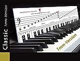 """KLAVIERSPIELEN lernen mit der """"Klaviatur mit Herz"""" Tastenschablone/Klavierschule: Musiknoten, Notennamen, Tastenorientierung - Lernhilfe für Klavier & Piano. VERSION mit 1 mm Stärke!"""